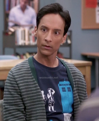 Abed's Doctor Who / Bill and Ted shirt on Community