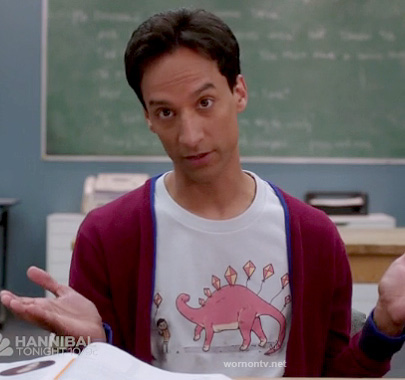 Abed's dinosaur/stegosaurus kite shirt on Community