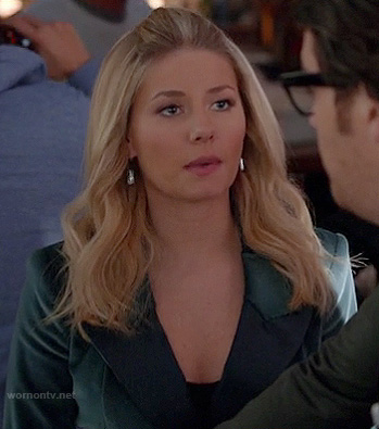 Alex's green satin blazer on Happy Endings