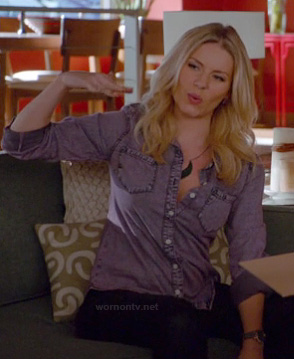 Alex's purple denim shirt on Happy Endings