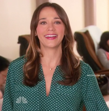 Ann's green polka dot blouse on Parks & Recreation