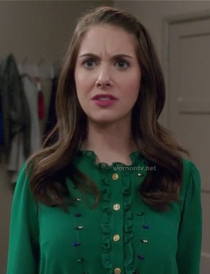 Annie's green shirtdress on Community