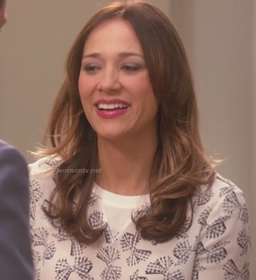 Ann Perkins bow sweater on Parks and Rec