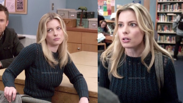 Britta's open stitch sweater on Community