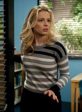 Britta's grey striped sweater on Community