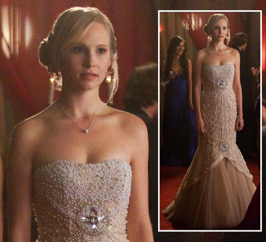 Wornontv Caroline S Prom Dress On The Vampire Diaries