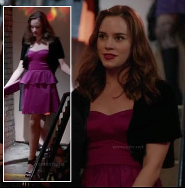 Charlotte's sweetheart neckline peplum dress on Revenge
