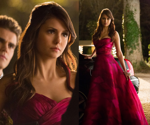 Elena's strapless pink prom dress on TVD