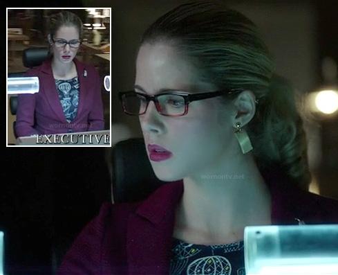 Felicity's hot air balloon print top on Arrow