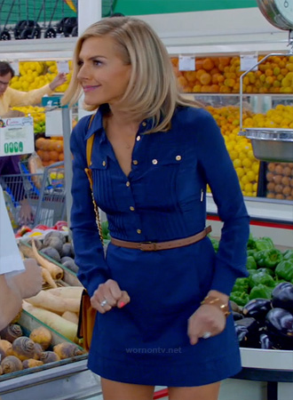 JAne's blue shirt dress on Happy Endings