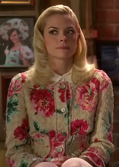 Lemon's cream and pink floral jacket on Hart of Dixie