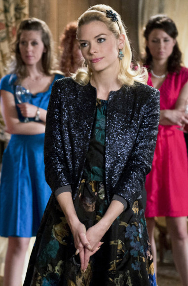 Lemon's black jacquard dress on Hart of Dixie