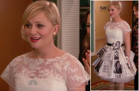 Leslie Knope's wedding dress on Parks and Recreation