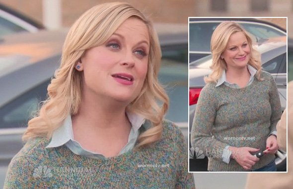 Leslie's green marle sweater on Parks & Rec