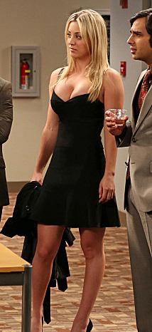 WornOnTV: Penny's black dress on The Big Bang Theory ...