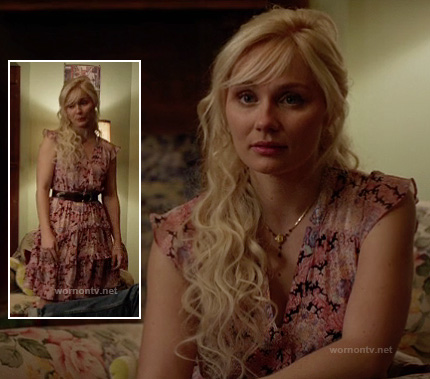 Scarlett's pink floral dress on Nashville