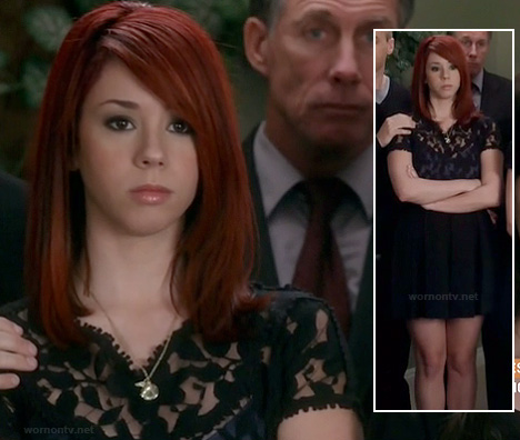 Tamara's black lace dress on Awkward