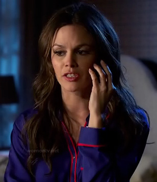 Zoe's blue and red pajamas on Hart of Dixie