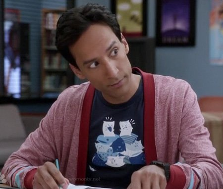 Abed's blue pillow fight shirt on Community