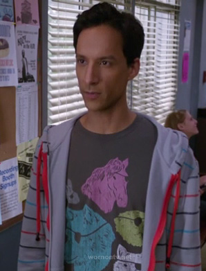 Abed's pirate animals tshirt on Community