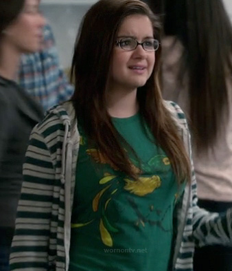 Alex's green graphic shirt with bird on Modern Family