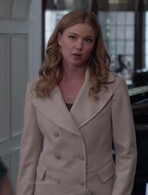 Emily's cream pea coat on Revenge