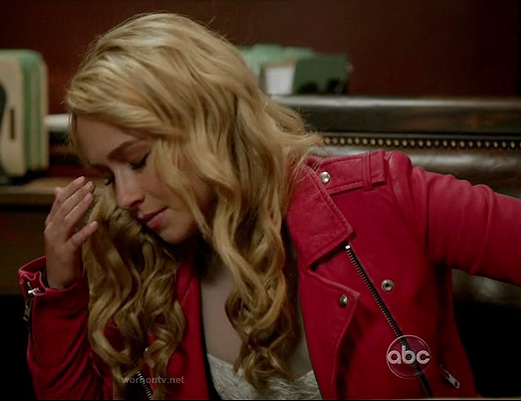 Juliette's red leather jacket on Nashville