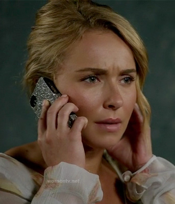 Juliette's silver glitter iphone cover on Nashville