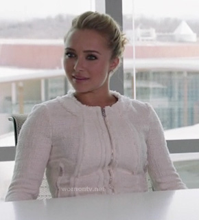 Juliette's white tweed jacket on Nashville