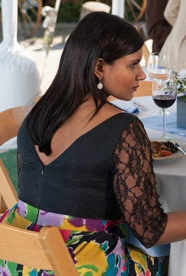 Mindy Kaling's dress at Dwight and Angela's wedding on The Office
