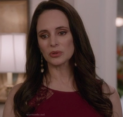 Victoria's pink lace inset dress on Revenge