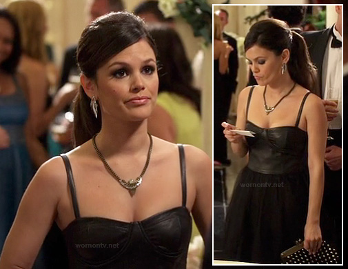 Zoe's black leather bustier gown on Hart of Dixie
