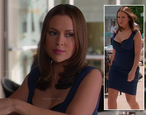 Savannah's blue dress on Mistresses