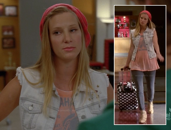 Brittany's polka dot port on Glee