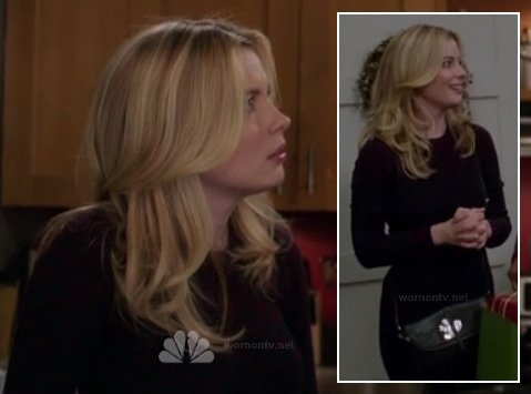 Britta's black bag with silver bird on Community