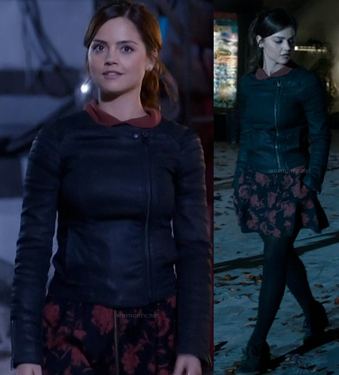 Clara's red floral dress on Dr Who