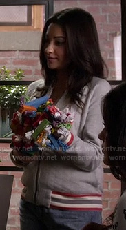 Emily's grey and red varsity jacket on Pretty Little Liars