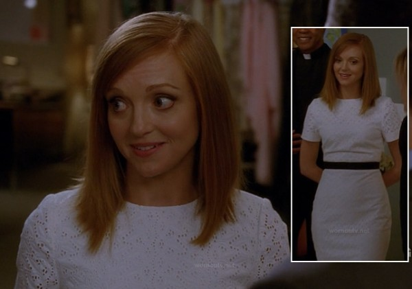 Emma's wedding dress on Glee