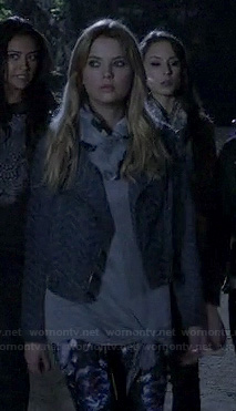 Hanna's blue zig zag jacket on PLL