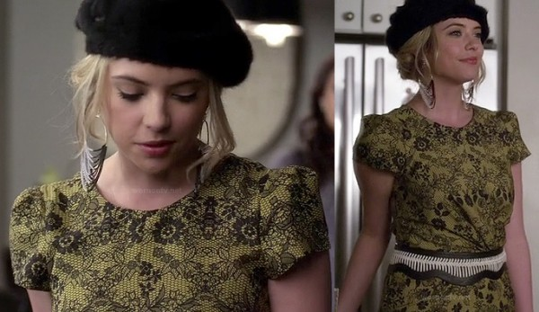 Hanna's yellow lace dress on PLL