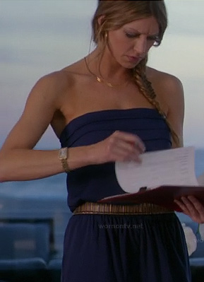 Josslyn's blue strapless jumpsuit on Mistresses
