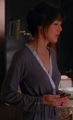 Karen's grey bathrobe on Mistresses