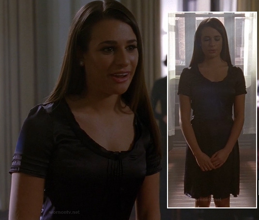Rachel's black audition dress on Glee