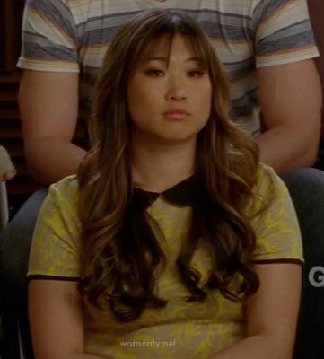 Tina's yellow dress with black peter pan collar on Glee