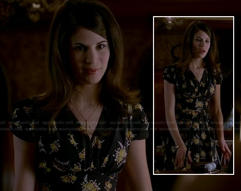 Willa's black floral dress on True Blood