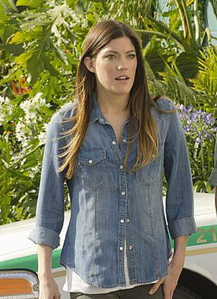 Debra's chambray shirt on Dexter