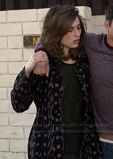 Allison's patterned jacket on Teen Wolf