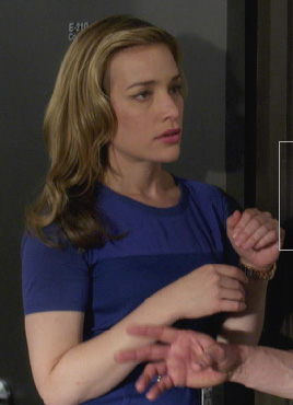 Annie's blue dress on Covert Affairs