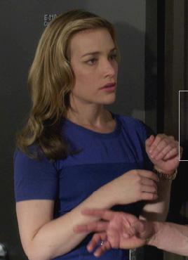 Annie's blue dress on Covert Affairs