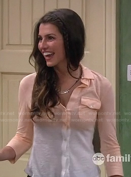 Chardonnay's white and peach ombre shirt on Melissa & Joey